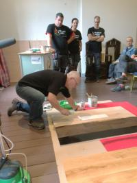 Workcamp Parquet in the Netherlands – Osmo as partner and sponsor